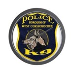 West Conshohocken Police K9 Wall Clock