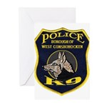 West Conshohocken Police K9 Greeting Cards (Pk of
