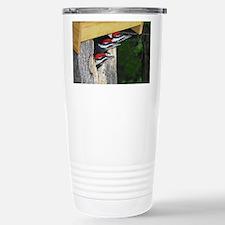 3 Pileated Woodpecker babies Travel Mug
