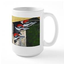 3 Pileated Woodpecker babies Mug