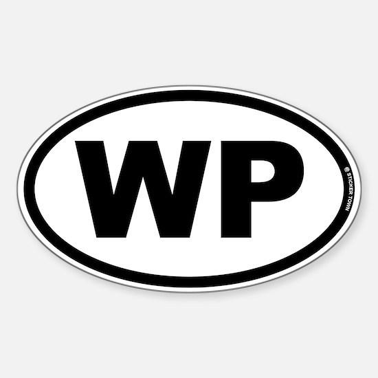 WP Sticker (Oval)