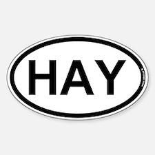 HAY - Hay Farmer Decal