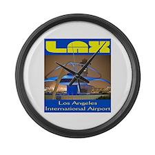 LAX Large Wall Clock