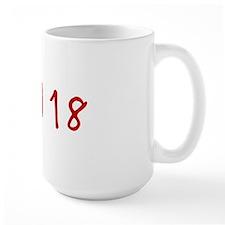 """""""April 18"""" printed on a Mug"""
