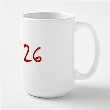 """""""April 26"""" printed on a Mug"""