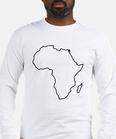 Africa outline Long Sleeve T-Shirt