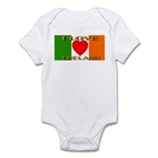 I Love Ireland Heart Flag Infant Creeper