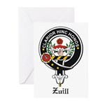 Zuill Clan Crest / Badge Greeting Cards (Package o