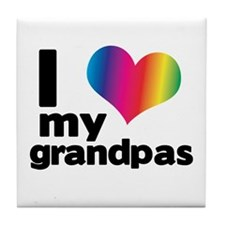 i love my grandpas Tile Coaster