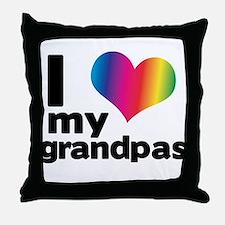 i love my grandpas Throw Pillow