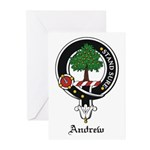 Andrew Clan Crest Badge Greeting Cards (Package of