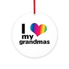 I love my grandmas Ornament (Round)