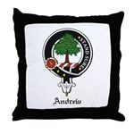 Andrew Clan Crest Badge Throw Pillow
