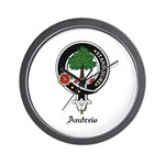 Andrew Clan Crest Badge Wall Clock