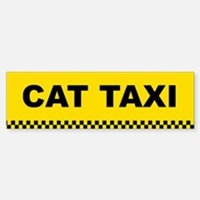 Cat Taxi Bumper Bumper Bumper Sticker