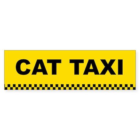 Cat Taxi Bumper Sticker