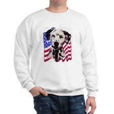 Dalmatian with Flag Sweatshirt