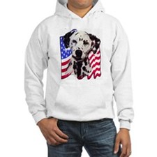 Dalmatian with Flag Hoodie