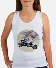 Funny Valkyrie motorcycle Women's Tank Top