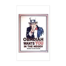 Obadiah Wants YOU Rectangle Decal