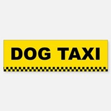 Dog Taxi Bumper Car Car Sticker