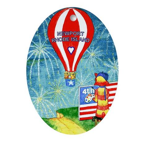 July 4th Newport RI Ornament (Oval)