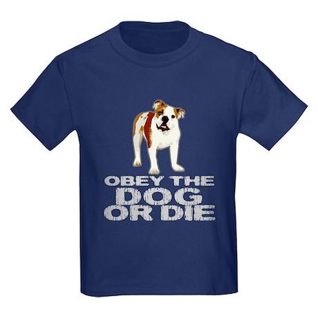 Obey the Dog or Die Kids Dark T-Shirt