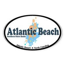 Atlantic Beach NC - Seashells Design Decal