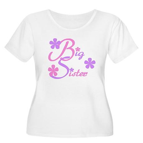 Big Sister Pastels Women's Plus Size Scoop Neck T-
