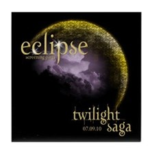 UK Eclipse Screening Party Tile Coaster