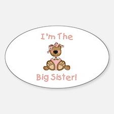 Bear Big Sister Sticker (Oval)