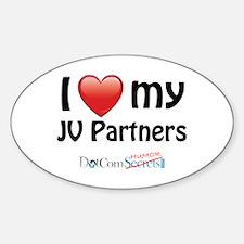 I Love My JV Partners Sticker (Oval)