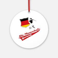 German soccer Ornament (Round)