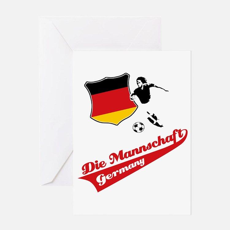 German soccer Greeting Card