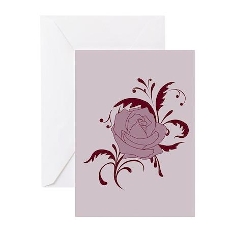 Baroque Rose Design Greeting Cards (Pk of 10)