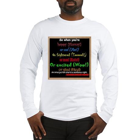 SchoolhouseRockTV Interjections Long Sleeve T-Shir
