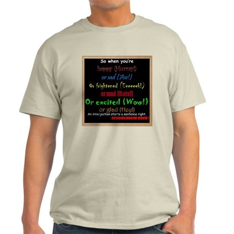 SchoolhouseRockTV Interjections Light T-Shirt