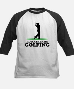 I'd Rather Be Golfing Kids Baseball Jersey