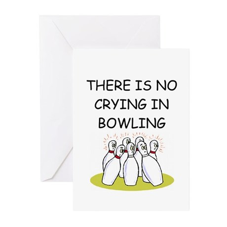 bowling gifts Greeting Cards (Pk of 10)