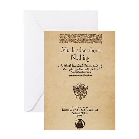 Much Ado About Nothing Greeting Card
