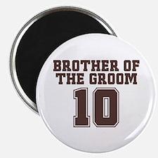 """Uniform Groom Brother 10 2.25"""" Magnet (10 pack)"""