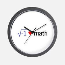 Cute I heart math Wall Clock