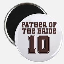 """Uniform Bride Father 10 2.25"""" Magnet (10 pack)"""