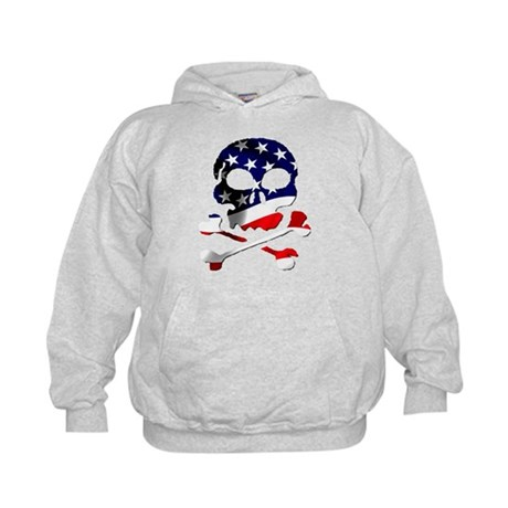 4th of July Skull Kids Hoodie