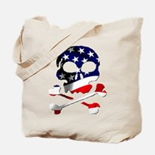 4th of July Skull Tote Bag