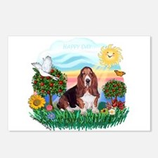 Happy Day Basset Postcards (Package of 8)