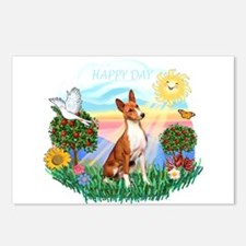 Happy Day Basenji Postcards (Package of 8)