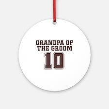 Uniform Groom Grandfather Ornament (Round)