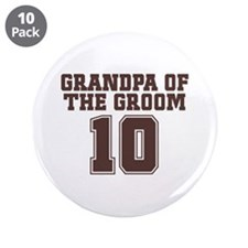 "Uniform Groom Grandfather 3.5"" Button (10 pack)"