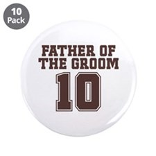 """Uniform Groom Father 10 3.5"""" Button (10 pack)"""